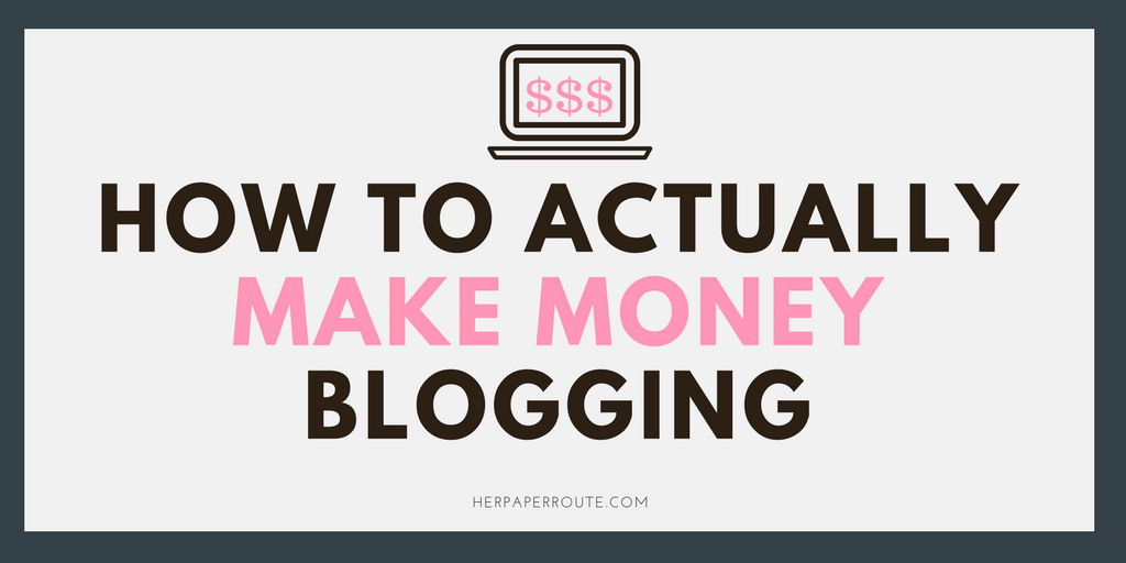 How to actually make money blogging herpaperroute for How much money to build a house