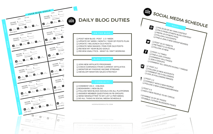 social media strategy Free Blog Planner - Free Printables - Styled Stock Photos - Passive Income - Affiliates - Content - Social Media - Management - SEO - Promote | www.herpaperroute.com