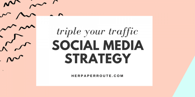 Create a social media strategy game-plan for your blog HerPaperRoute