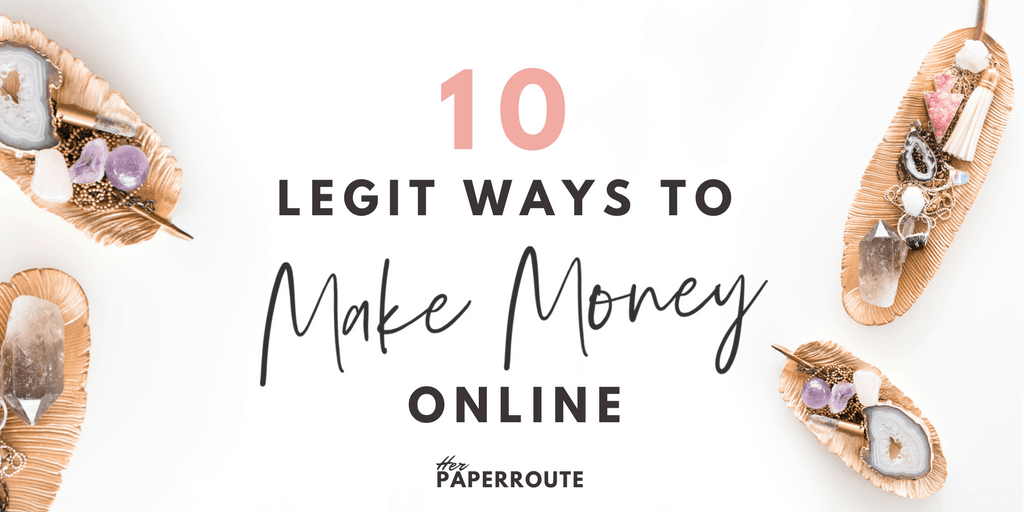 10 Legit ways to make money online - non blogging - ways to make money - wahm sahm work online make money from home - Real Ways To Make Money Online With Minimal Effort - Social Media - Social Media Marketing | www.herpaperroute.com