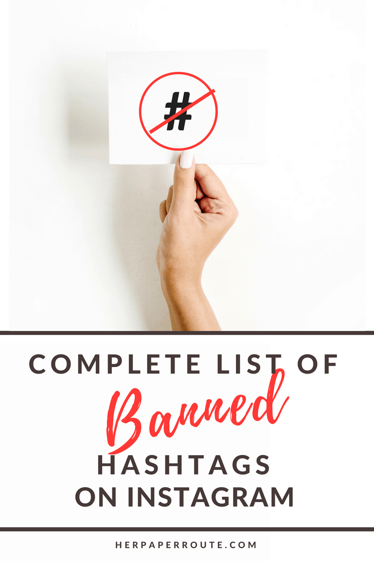 Complete List Of Banned Hashtags On Instagram