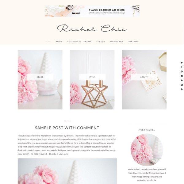 Bluchic-feminine WordPress themes - Pretty theme - make money blogging network make money blogging | herpaperroute.com