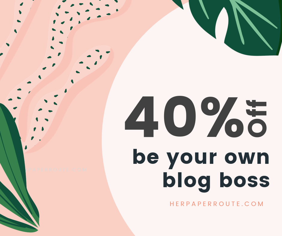 Be your own blog boss course best blogging courses learn affiliate marketing how to create a blog from scratch and make money The best blogging course, one blogging course that covers everything, Be Your Own Blog Boss course from HerPaperRoute, free blogging courses, pinterest marketing course, Blog Boss, Profitable blogging training, Complete Blogging Business- Everything You Need To Know To Create, Run, Market And Monetize A Blog Online courses to learn blogging, learn affiliat emarketing and more | herpaperroute.com