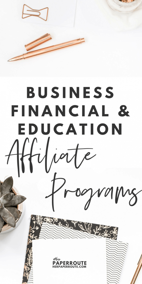 Business, Financial & Education Affiliate Programs