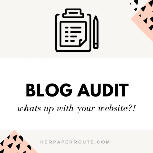 blog audit website audit seo check blogging help