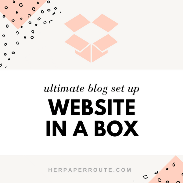 website in a box blog set up service wordpress set up theme install herpaperroute.com